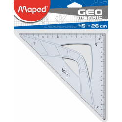 EQUERRE 45° 21CM GRAPHIC MAPED