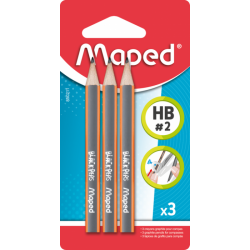 3 MINI CRAYON NOIR HB MAPED