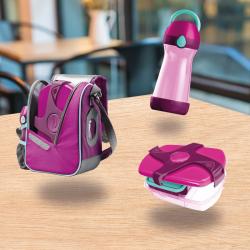 Pack lunch pour enfant rose disponible en vente en ligne chez mapedstore.tn
